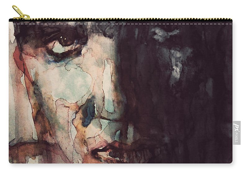 Elvis Carry-all Pouch featuring the painting The King by Paul Lovering