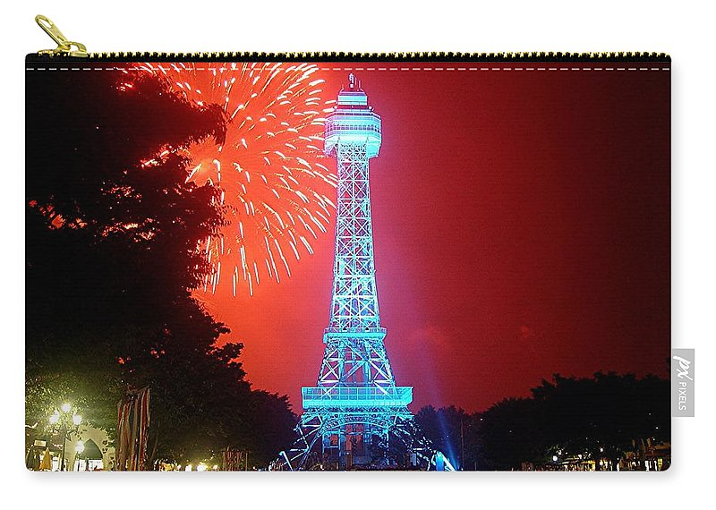 Kings Island Carry-all Pouch featuring the digital art The King's Tower by Barkley Simpson