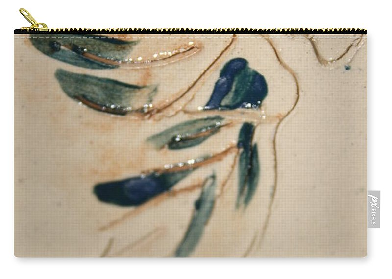 Gloria Ssali Carry-all Pouch featuring the ceramic art the Kiss - tile 3 by Gloria Ssali