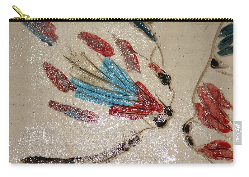 Gloria Ssali Carry-all Pouch featuring the ceramic art The Kiss - Tile 4 by Gloria Ssali