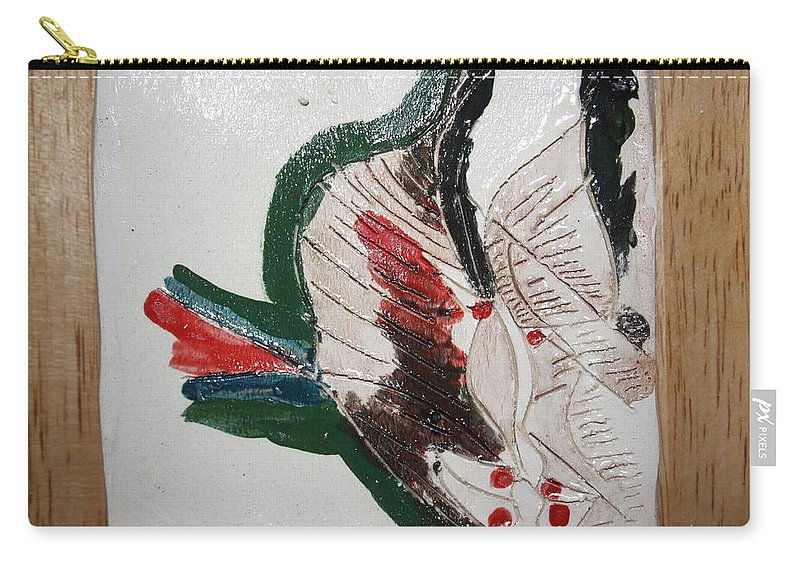 Jesus Carry-all Pouch featuring the ceramic art the Kiss 11 - tile by Gloria Ssali