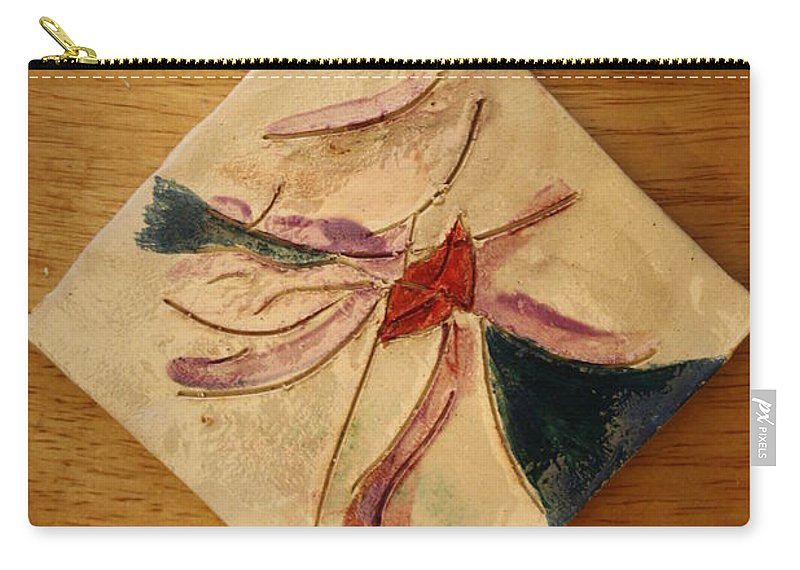 Jesus Carry-all Pouch featuring the ceramic art The Kiss 5 - Tile by Gloria Ssali