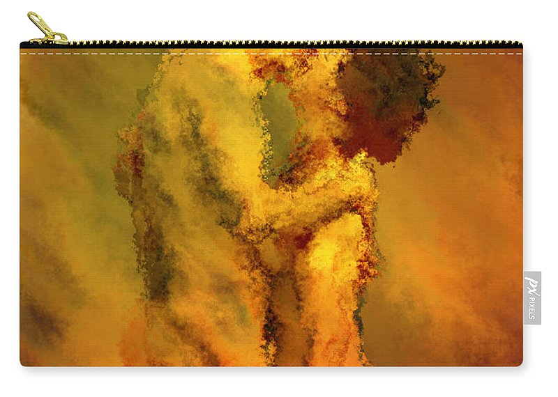 Nudes Carry-all Pouch featuring the photograph The Kiss by Kurt Van Wagner
