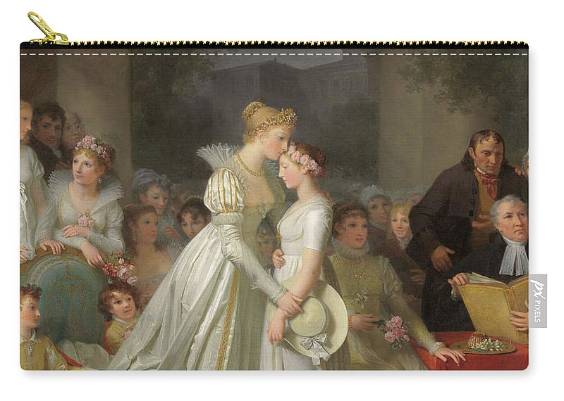 Kiss Carry-all Pouch featuring the painting The Kiss Of Protection By The Local Chatelaine by Marguerite Gerard