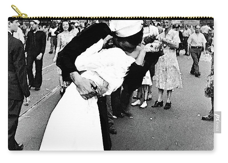 the kiss v j day times square carry all pouch for sale by thomas
