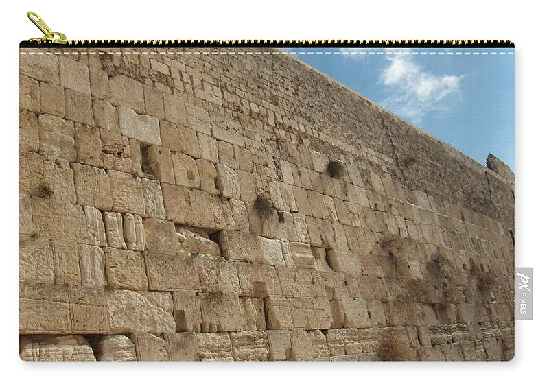 Jerusalem Carry-all Pouch featuring the photograph The Kotel - Western Wall In Jerusalem by Eliyahu Shear