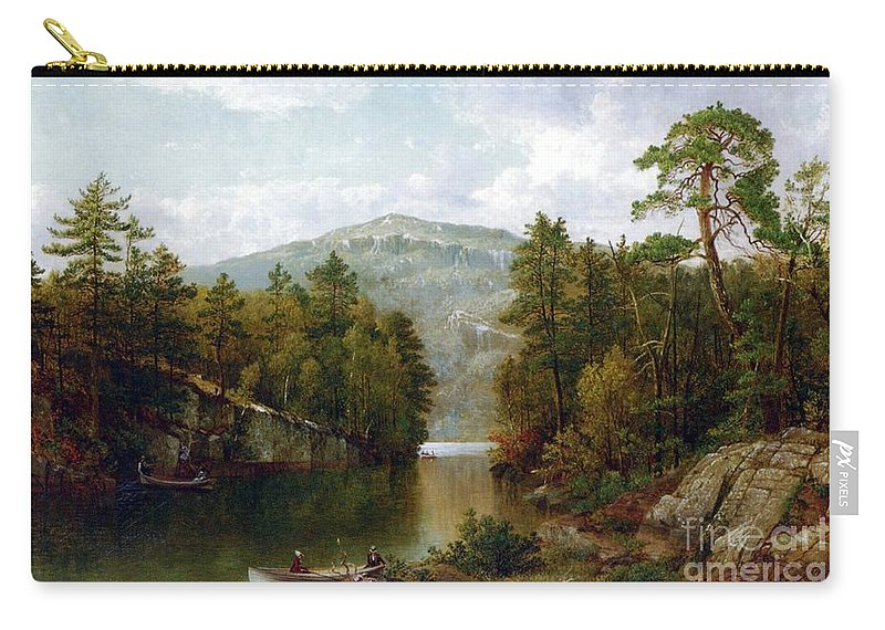 The Lake George Carry-all Pouch featuring the painting The Lake George by David Johnson