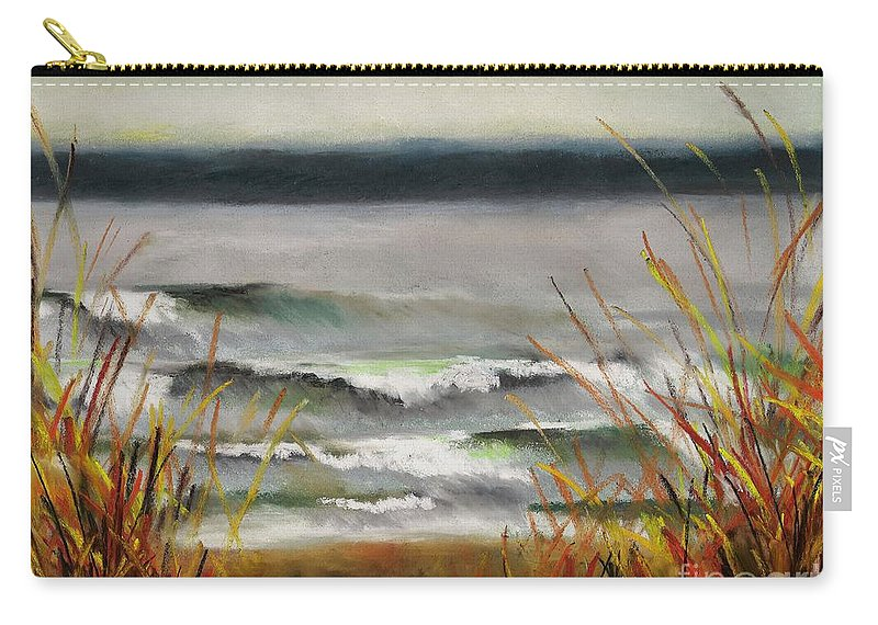 Lakes Carry-all Pouch featuring the painting The Lake Shore by Frances Marino