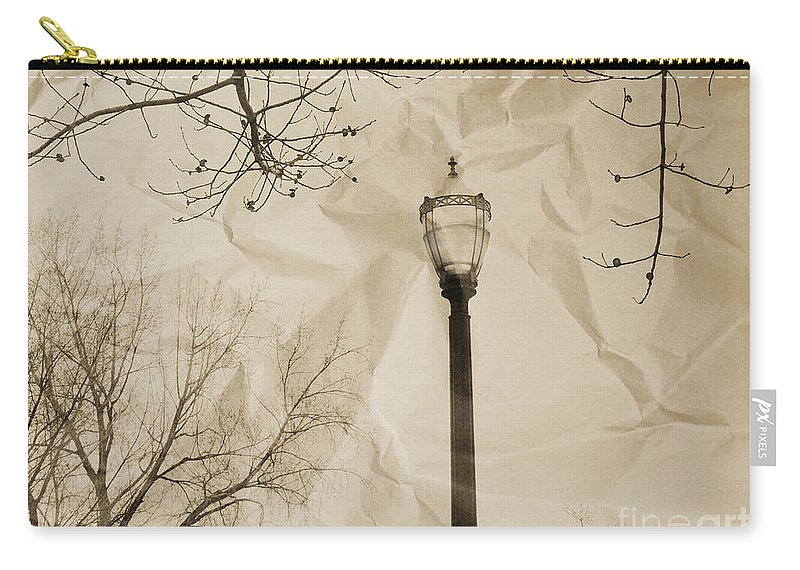 Street Carry-all Pouch featuring the photograph The Lampost by Tara Turner