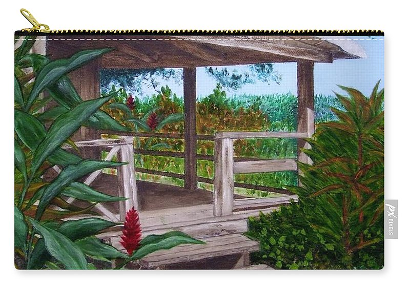 House Carry-all Pouch featuring the painting The Lanai by Mary Deal