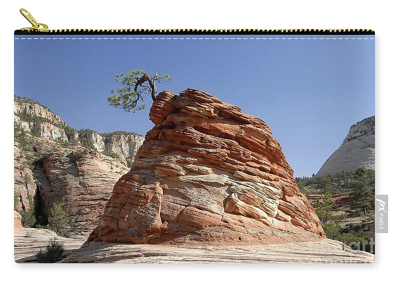 Zion National Park Utah Carry-all Pouch featuring the photograph The Land Of Zion by David Lee Thompson