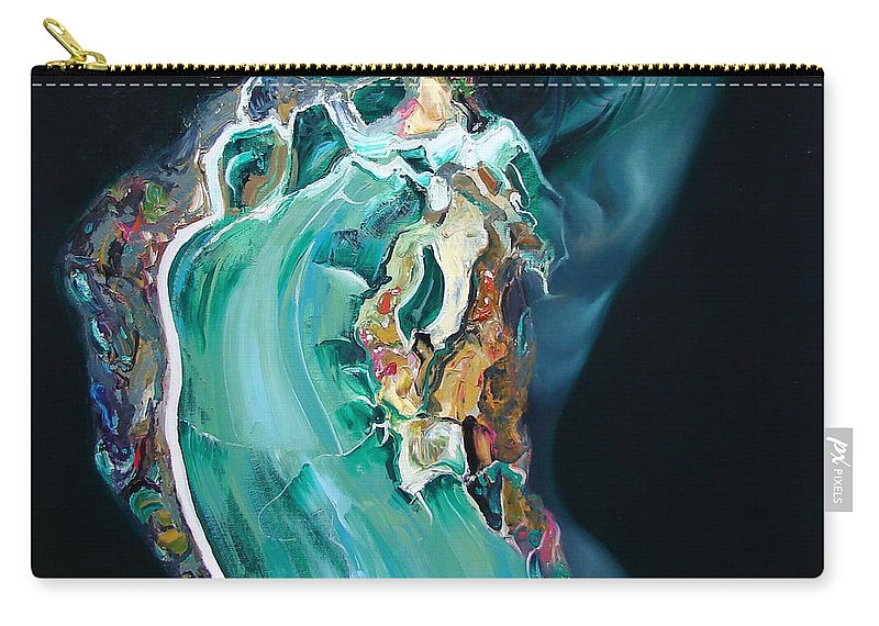 Ignatenko Carry-all Pouch featuring the painting The Landlady Of Copper Mountain by Sergey Ignatenko