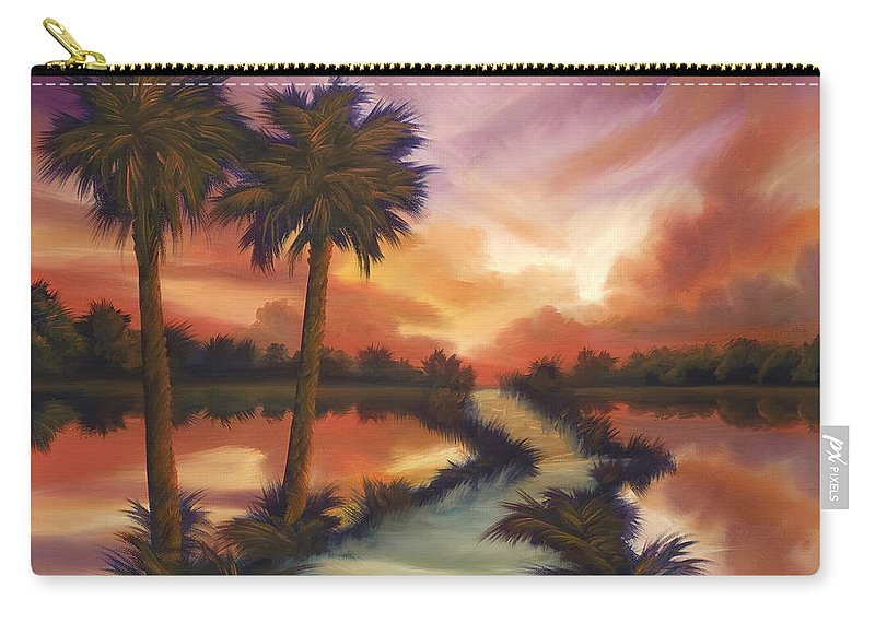 Skyscape Carry-all Pouch featuring the painting The Lane Ahead by James Christopher Hill