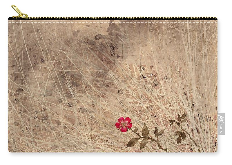 Abstract Carry-all Pouch featuring the digital art The Last Blossom by William Russell Nowicki