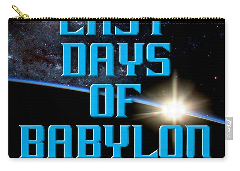 Book Carry-all Pouch featuring the photograph The Last Days Of Babylon Book Cover by Mike Nellums