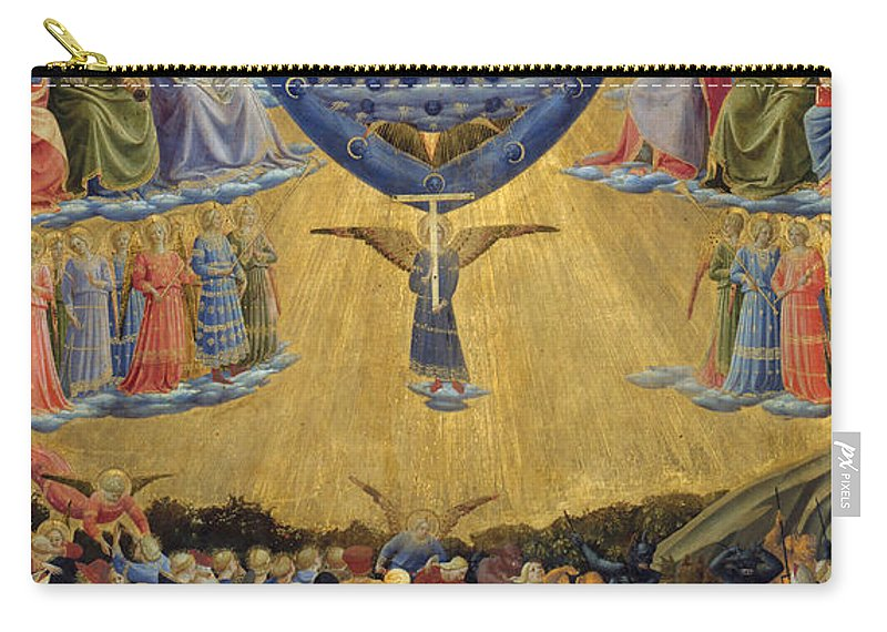 Bible Carry-all Pouch featuring the painting The Last Judgement, Central Panel by Fra Angelico
