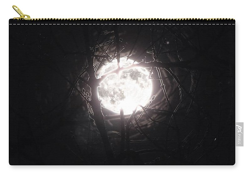 Night Carry-all Pouch featuring the photograph The Last Nights Moon by September Stone