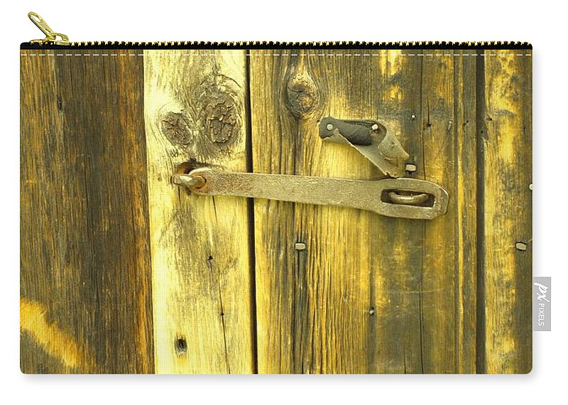Pioneer Carry-all Pouch featuring the photograph The Latch by Ian MacDonald