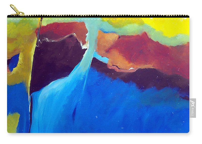 Abstract Carry-all Pouch featuring the painting The Lay Of The Land by Ruth Palmer