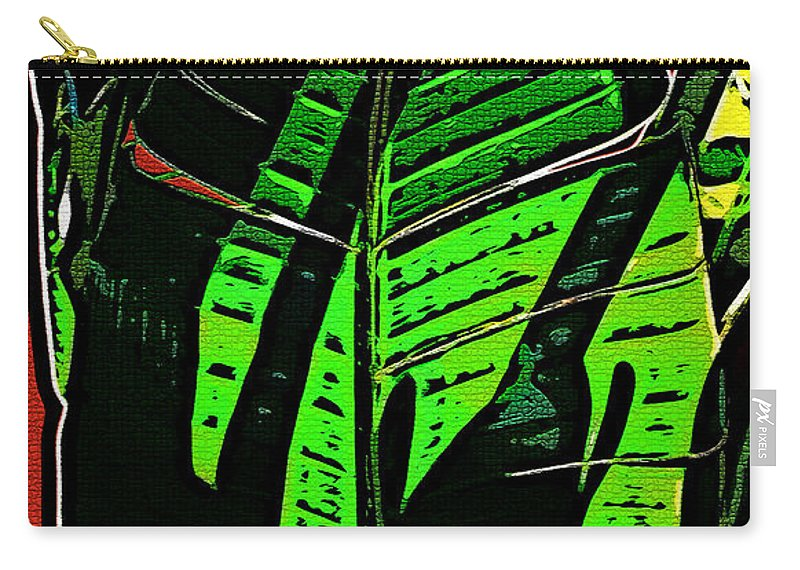Leaf Carry-all Pouch featuring the digital art The Leaf by Joan Minchak