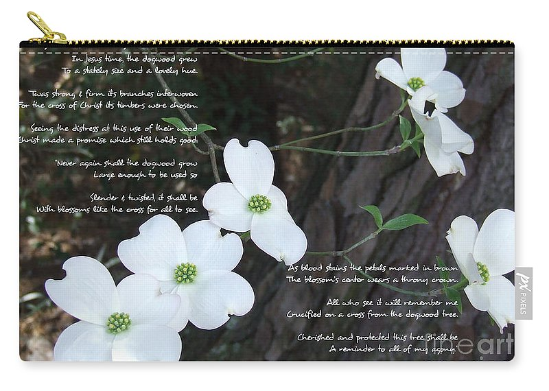 Dogwood Carry-all Pouch featuring the photograph The Legend Of The Dogwood by Andrea Anderegg