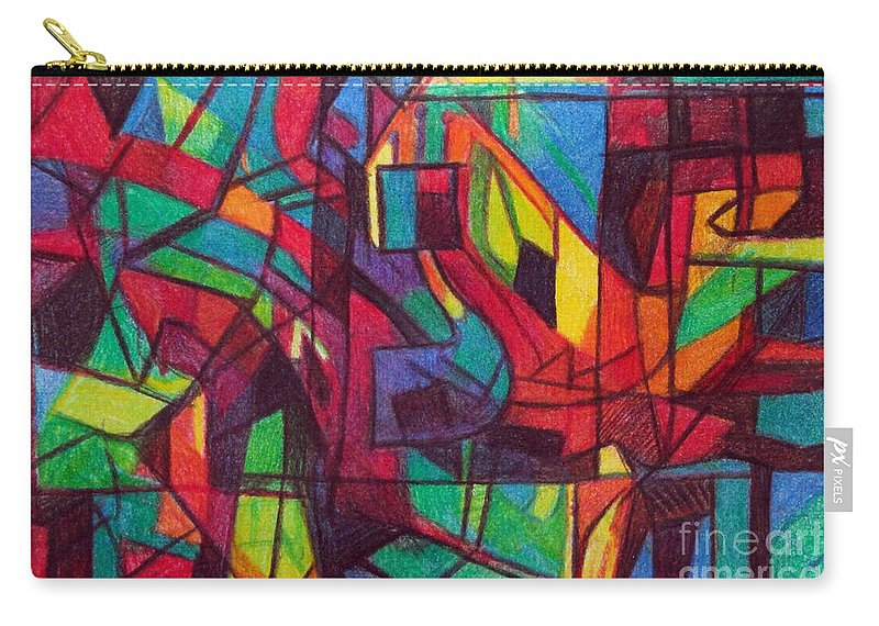 Torah Carry-all Pouch featuring the drawing The Letter Nun by David Baruch Wolk