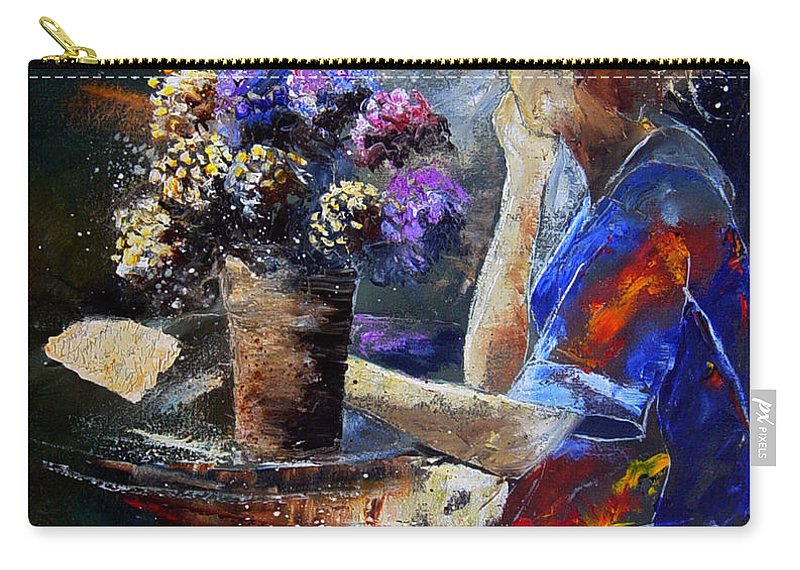 Girl Nude Carry-all Pouch featuring the painting The Letter by Pol Ledent