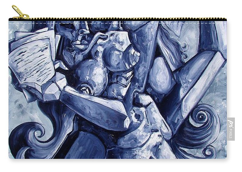 Surrealism Carry-all Pouch featuring the painting The Letters by Darwin Leon