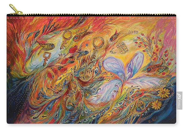 Original Carry-all Pouch featuring the painting The Levitation by Elena Kotliarker