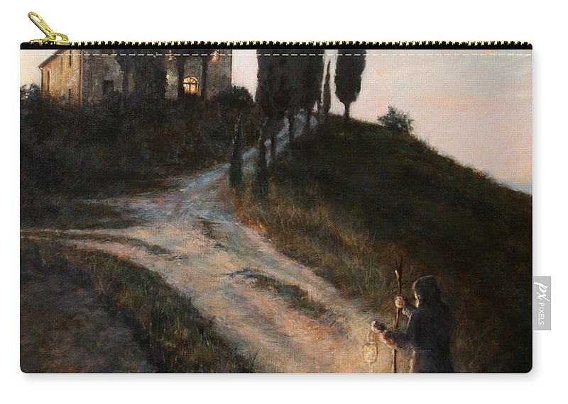 Tree Carry-all Pouch featuring the painting The Light of a New Dawn by Darko Topalski