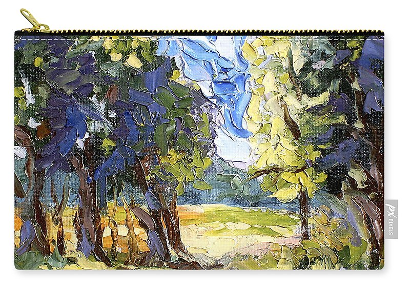 Loose Carry-all Pouch featuring the painting The Light Of Day by Lewis Bowman