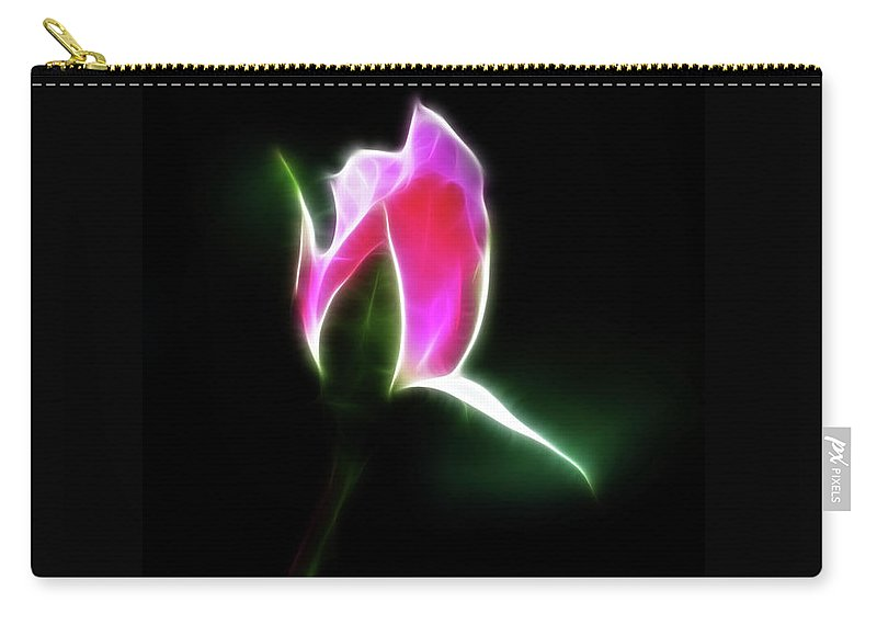 Rose Carry-all Pouch featuring the photograph The Light Of Heaven Shining Down by Lisa Stanley