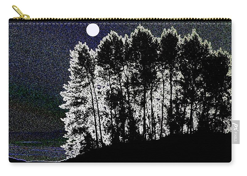Moon Carry-all Pouch featuring the digital art The Light Of The Moon by Will Borden