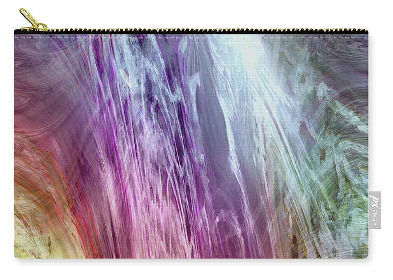 Light Of The Spirit Carry-all Pouch featuring the digital art The Light Of The Spirit by Linda Sannuti
