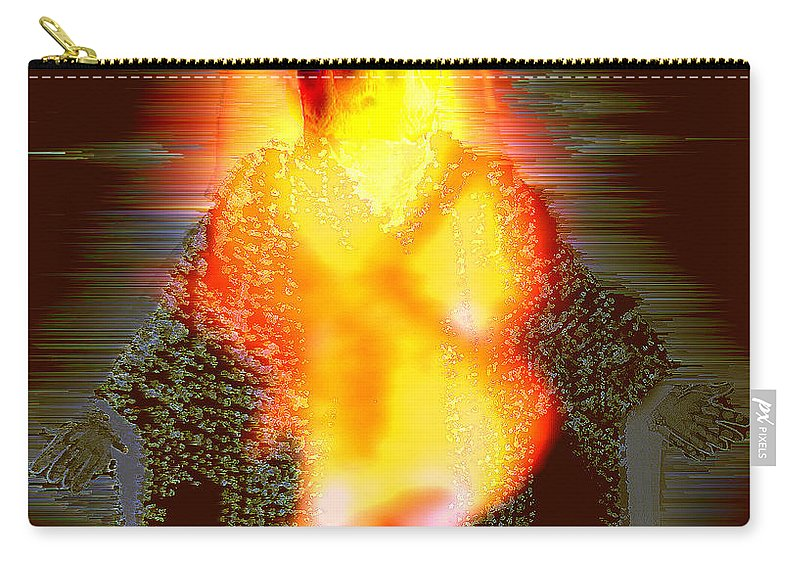 The Light Of The World Carry-all Pouch featuring the digital art The Light of the World by Seth Weaver