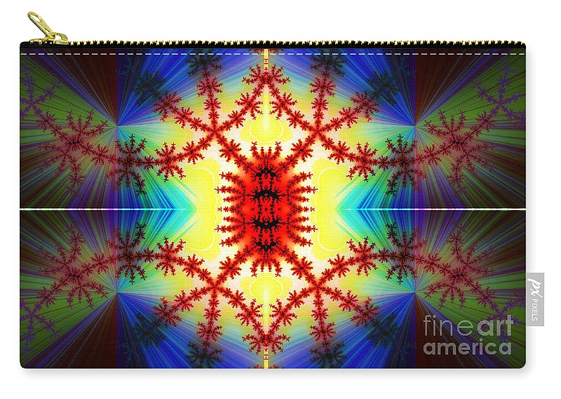 Clay Carry-all Pouch featuring the digital art The Light Within by Clayton Bruster