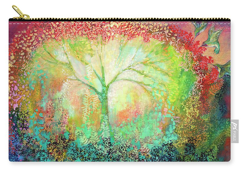 Tree Carry-all Pouch featuring the painting The Light Within by Jennifer Lommers