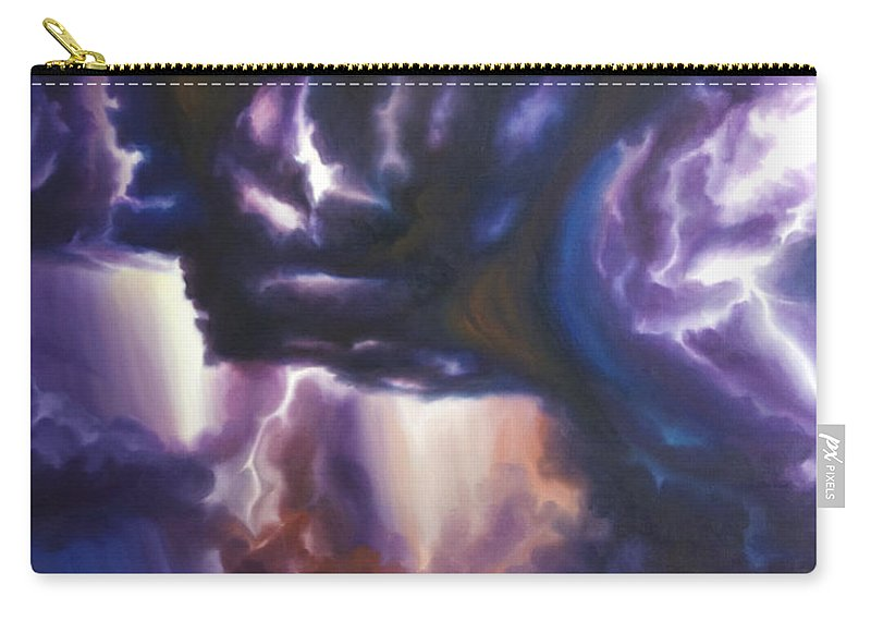 Tempest Carry-all Pouch featuring the painting The Lightning by James Christopher Hill