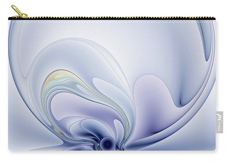 Abstract Carry-all Pouch featuring the digital art The Liquidity Of Thought by Casey Kotas