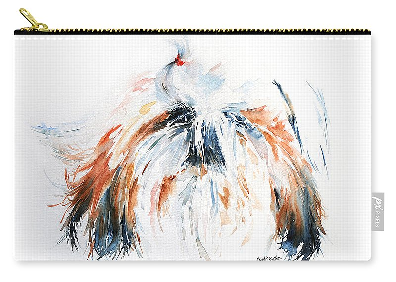 Stephie Butler Carry-all Pouch featuring the painting The Little Horror by Stephie Butler