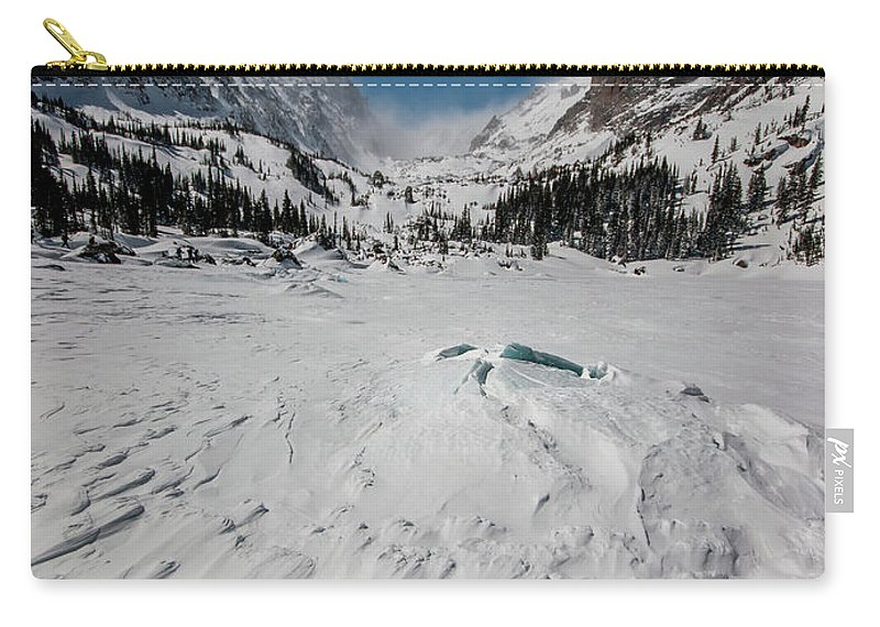 Landscape Carry-all Pouch featuring the photograph The Loch Under Snow by Rob Lantz
