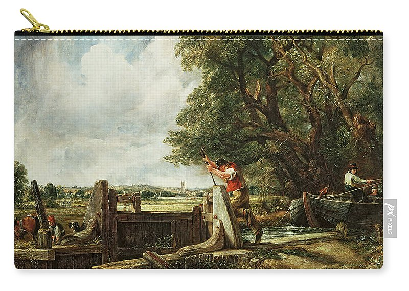 The Carry-all Pouch featuring the painting The Lock by John Constable