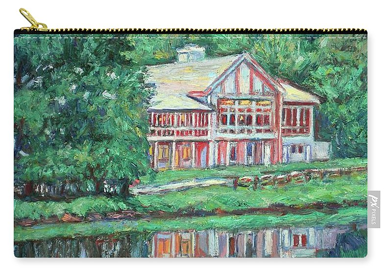 Lodge Paintings Carry-all Pouch featuring the painting The Lodge At Peaks Of Otter by Kendall Kessler