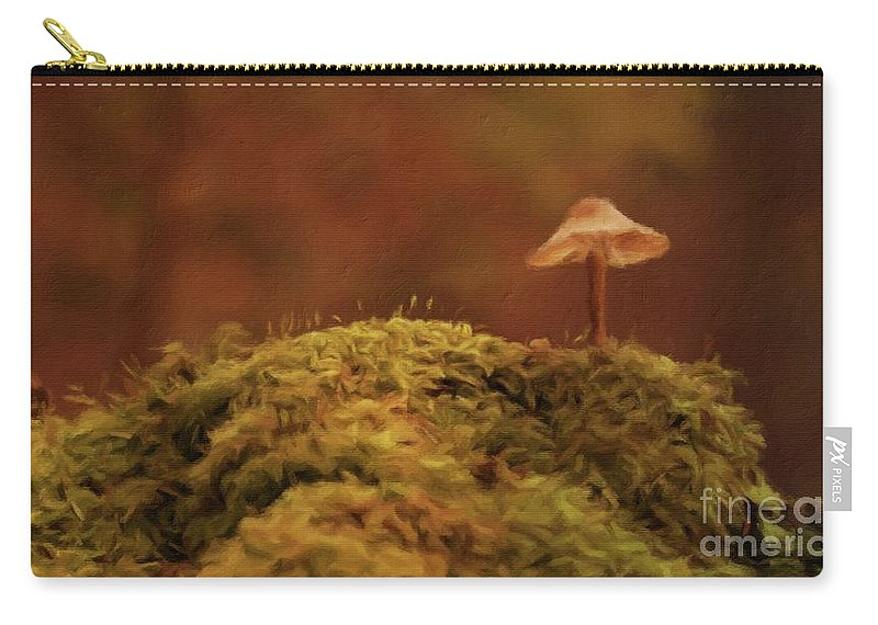 Landscape Carry-all Pouch featuring the painting The Lonely Mushroom by Sarah Kirk