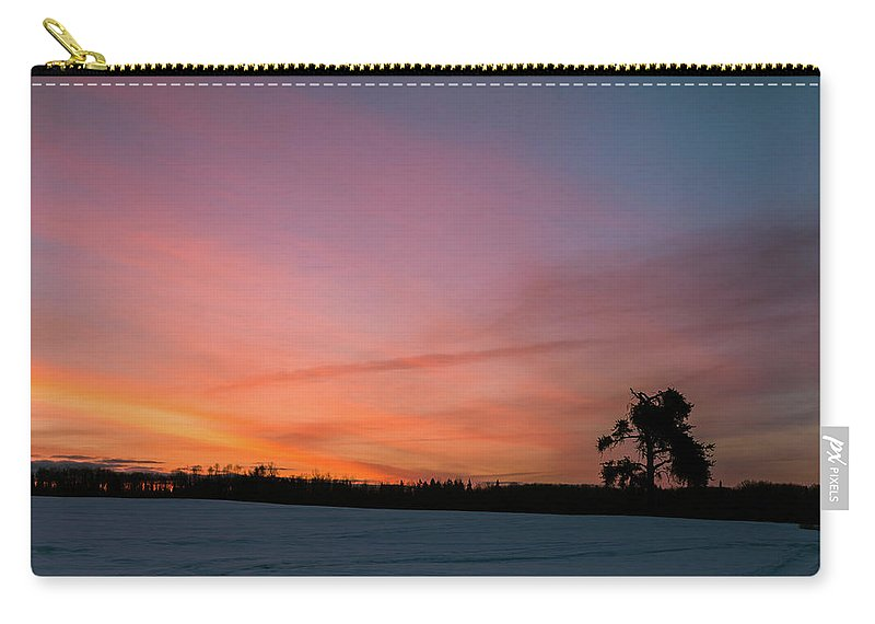 Mud Lake Road Carry-all Pouch featuring the photograph The Lonely Tree by Linda Ryma