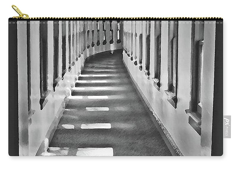 Hallway Carry-all Pouch featuring the photograph The Long Hall by Jost Houk
