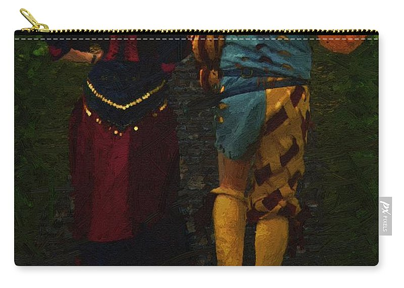 Cobblestones Carry-all Pouch featuring the painting The Long Walk Home by RC DeWinter