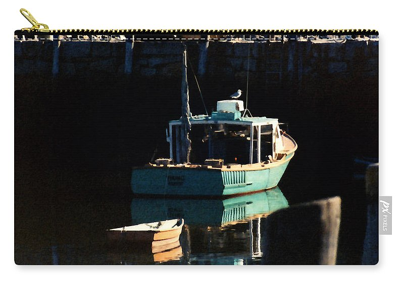 Boat Carry-all Pouch featuring the painting The Lookout by Paul Sachtleben