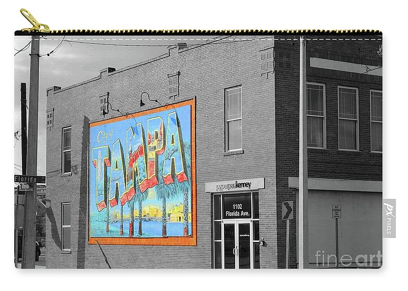 Tampa Carry-all Pouch featuring the photograph The Lost Tampa Postcard by Jost Houk