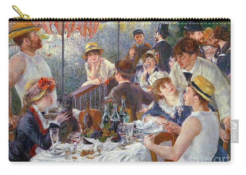 The Carry-all Pouch featuring the painting The Luncheon of the Boating Party by Pierre Auguste Renoir
